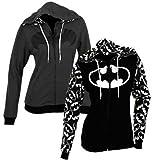 DC Comics Reversible Batman Juniors Zip Up Hoody XL Black