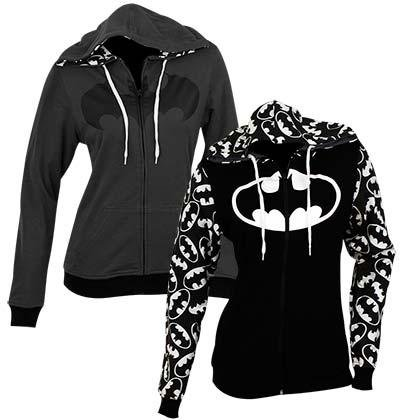 DC Comics Reversible Batman Juniors Zip Up Hoody XL Black
