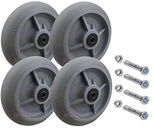 Drywall & Sheetrock Dolly Wheels with Axles Set of 4 - USA Made