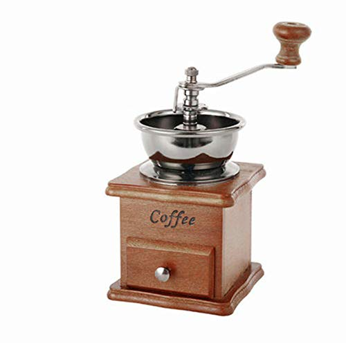 Coffee Grinder-Spice Hand Grinding Machine-Hand-crank Roller Drive-Grain Burr Mill Coffee Machine (brown)