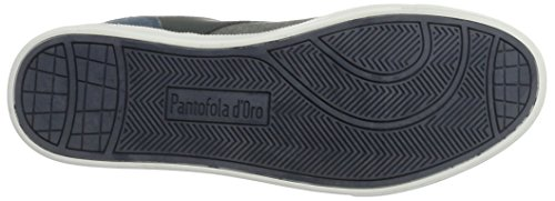 Pantofola dOro Herren Prato Canvas Low Sneaker Blau (Blue Indigo)