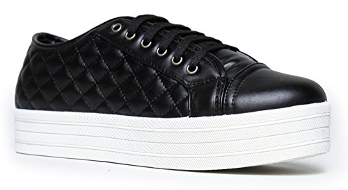 Quilted Lace Up Platform Sneaker 6