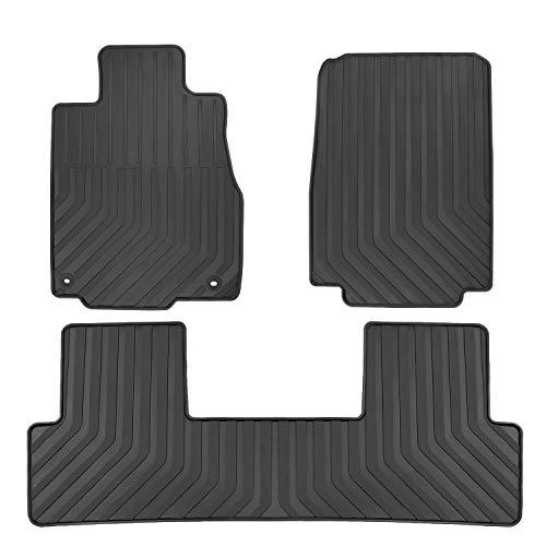 San Auto Car Floor Mat for Honda CR-V 4th Generation 2012-2013-2014-2015-2016 Custom Fit,Full Black,Rubber Auto Floor Liner Mat All Weather Heavy Duty & Odorless
