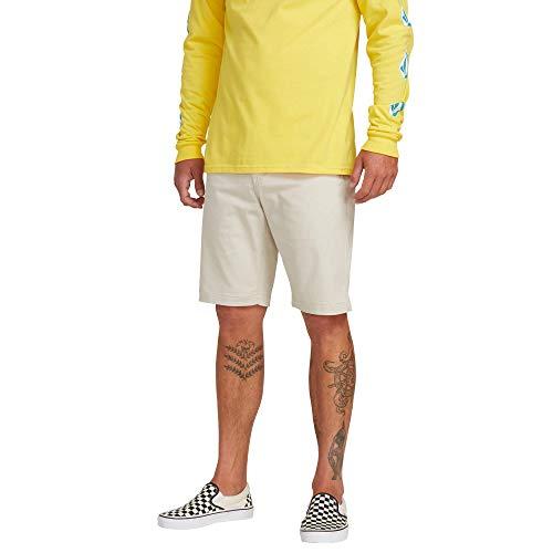 Genuine Mens Shorts - Volcom Men's Frickin Modern Stretch Chino Short, Light Beige 28