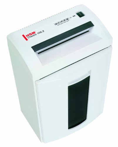 HSM Classic 105.3c, 12-14 Sheets, Cross-Cut, 8.7-Gallon Capacity Shredder