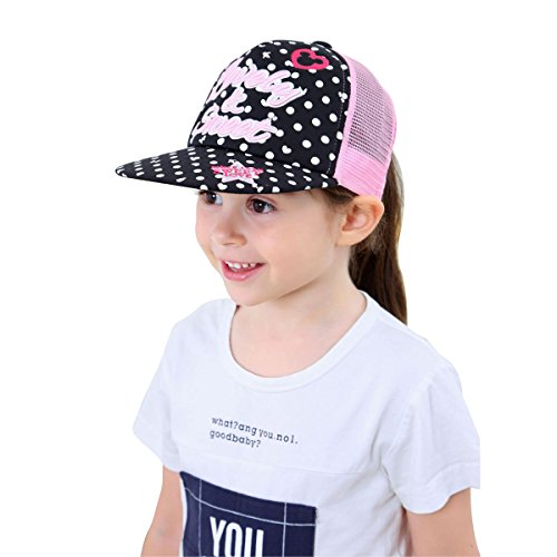 Toddler Baby Girl Hip Hop Cap Embroidered Baseball Cap Adjustable Sun Trucker Hat Ball Caps - Letters Only Ball Cap