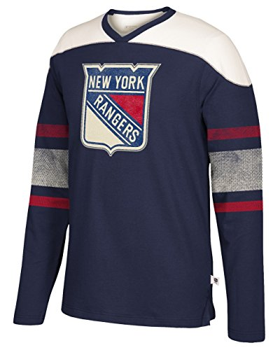 e3194d5b2 adidas NHL New York Rangers Mens CCM L S Applique Crewccm L S Applique  Crew