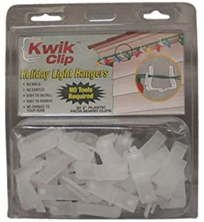 Amazon holiday time 100 pc all purpose light clips string kwik clip holiday christmas light hangers 2 fascia boards clip made in the usa aloadofball Choice Image