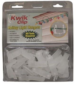 kwik clip holiday light hangers fits 2 fascia boards plastic - Outdoor Christmas Light Hooks