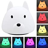 Techway LED Nursery Night Lights for Kids Cute Animal Baby Lamp Silicone Baby Night Light with Touch Sensor Portable Rechargeable Multicolor Breathing Nightlight Birthday Gifts for Bedroom Girls For Sale