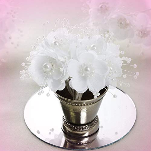 Inna-Wholesale Art Crafts New 72 pcs White Faux Pearl Decorating Flowers Party Favors Supplies Decorations - Perfect for Any Wedding, Special Occasion or Home Office D?cor