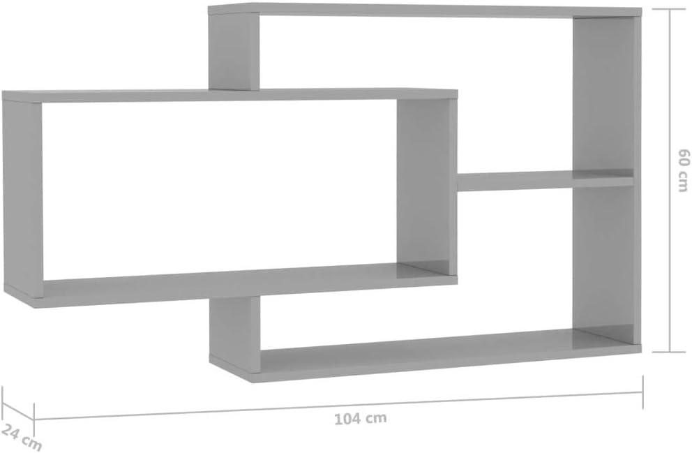 Festnight Estantes de Pared de Aglomerado Estantes Decorativos con 3 Compartimentos Abiertos Blanco 104x24x60 cm