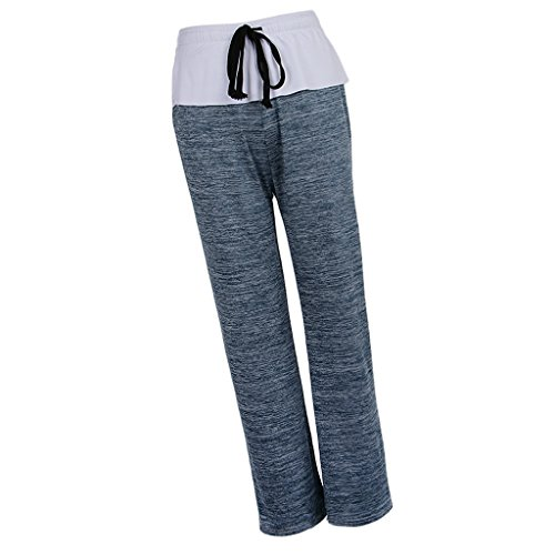 Femmes Haute Jambe Lâche Leggings De Bleu Pantalon Large Clair Palazzo Yoga Taille Sharplace dXvnqEd