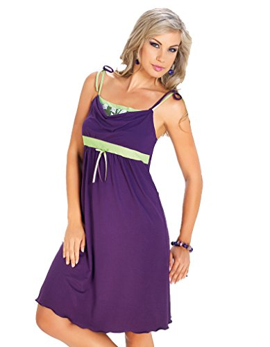 Irall Iris Morado Knee Length Nightdress