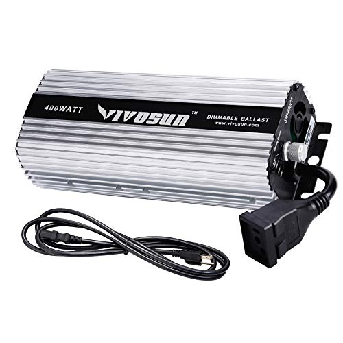 VIVOSUN 400 watt Dimmable Digital Ballast for HPS MH Grow Light, Soft Start Program & Stable Performance (Space Gray)
