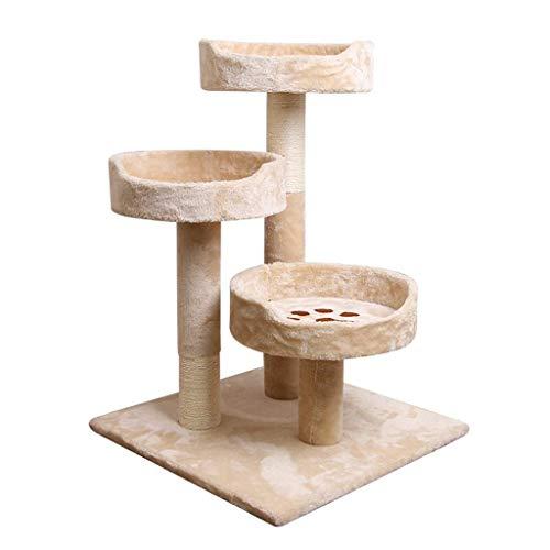 FTFDTMY Abgestufter Katzenkletterrahmen, Kratzbaum Kratzbrett Tierhandlung Katzenspielzeug Multifunktions-Katzenhaus…