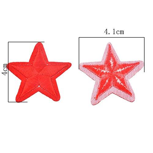 OPEN BUY 10 parches termoadhesivos estrella roja bordada para ropa, scrapbooking, costura.: Amazon.es: Hogar