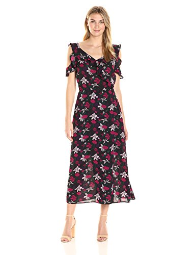 James & Erin Women's Ruffle Dress