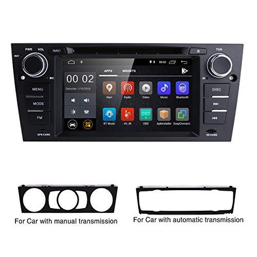 hizpo Android 8.1 Quad Core 7 Inch Car Stereo Multi-Touch Screen Radio CD DVD Player 1080P Video Screen for BMW E90/2006-2011 E91/2006-2011 E92/2006-2011 E93 ()