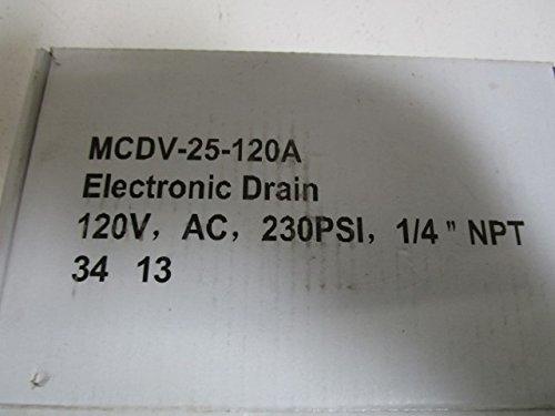 Midwest Control MCDV-25-120A Timer Control Condensate Drain, 1/4'' FPT, 115V, 230 psi Max Pressure, 4.5 mm Drain Orifice Size, 34 Degree F to 140 Degree F by Midwest Control