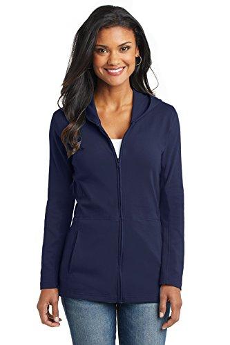 Port Authority Women's Modern Stretch Cotton Full Zip Jacket M True (Navy Zip Jacket)