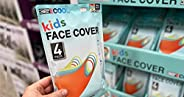 32 Degrees Cool Kids Unisex Face Mask Cover 4-Pack   Durable, Stretch, Washable, UPF 50+   86% Polyester, 14%