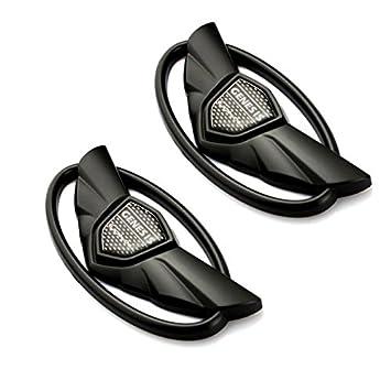 BENZEE 2pcs Set B135 Black HYUNDAI Genesis Shiny Glossy Black Wing Logo Badge Car Emblem Trunk Grille Lid Tail Gate Sticker 2010 2011 2012 2013 2014 2015