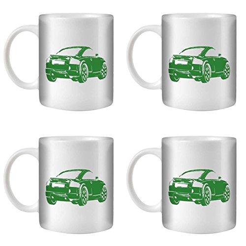 stuff4-tea-coffee-mug-cup-350ml-4-pack-green-audi-tt-v6-white-ceramic-st10