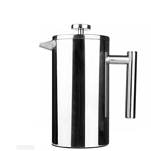 350 ml/800 ML en acier inoxydable Cafetière française permanent filtre à café panier Espresso Tea Maker double paroi Percolator outil Coffee Pot, 8L