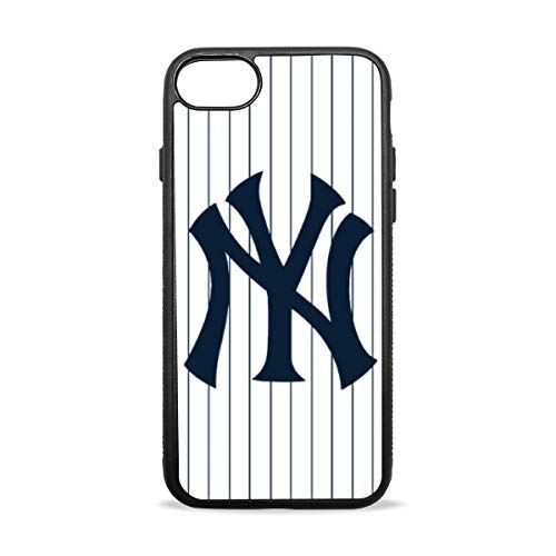 (Phone Case with Slim Soft TPU Rubber Bumper Silicone MLB Yankees Protective Cover Compatible with iPhone 7 Plus/8 Plus 5.5 inch)