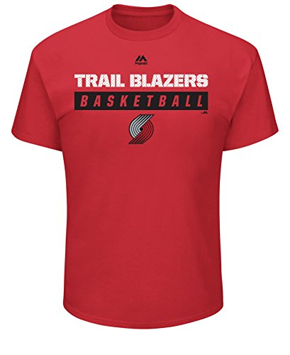 VF LSG NBA Portland Trail Blazers Men's Proven Pastime Short Sleeve Crew-Neck Tee, X-Large, Athletic Red