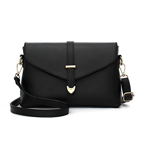 RUIREN Fashion Bolsa Portátil Messenger Shoulder Bag Negro
