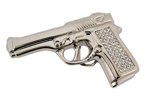 Famous Star Belt Buckle - Famous Star Pistol Gun Rhinestone Cowboy Belt Buckle