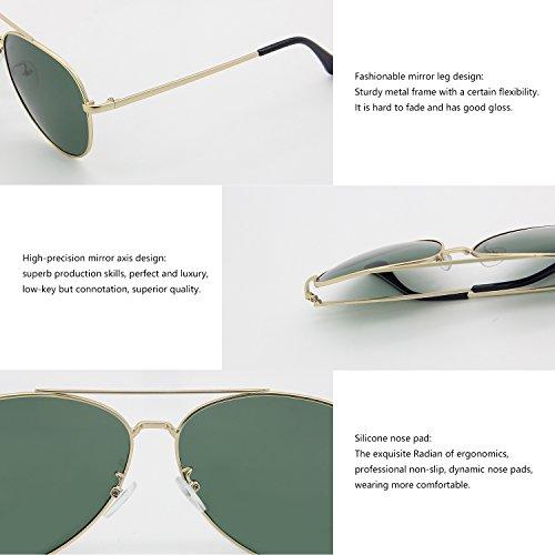 Gafas sol para verde Dorado AMZTM oscuro hombre de q4HdAwA