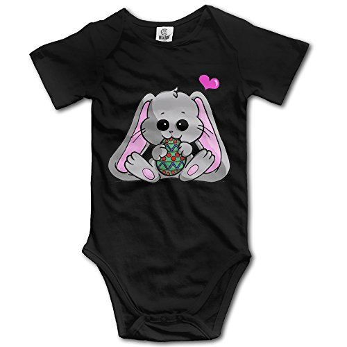 Easter Bunny Newborn Baby Climbing Clothes Boy's & Girl's Outfit Rompers Size 6 M Black Personalize