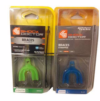 Shock Doctor Braces Mouthguard - No Boil/Mold Instant Fit - Superior Protection and Comfortable Fit - Adult/Youth