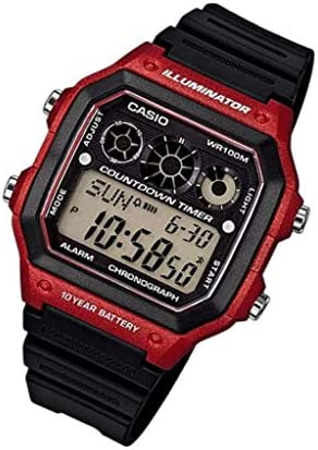 Casio Men s AE-1300WH-4AV Referee Timer Watch