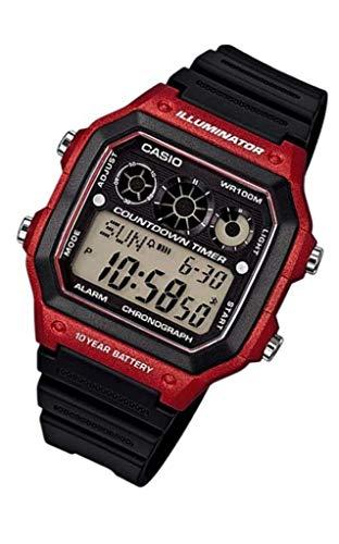 Casio Men's AE-1300WH-4AV Referee Timer Watch ()