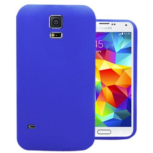Accessory Master 5055716381481 Silikon Gel Schutzhülle für Apple iPhone 5S blau