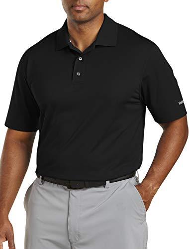 - Reebok Big And Tall Golf Play Dry Solid Polo, Black 2X-Tall