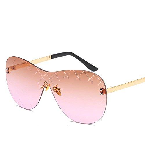 los damas tendencia siamés Estados de sin color metal de gafas sol marco Europa del Aoligei sol y Moda hombres sol gafas gafas Unidos de E de BvWPwa
