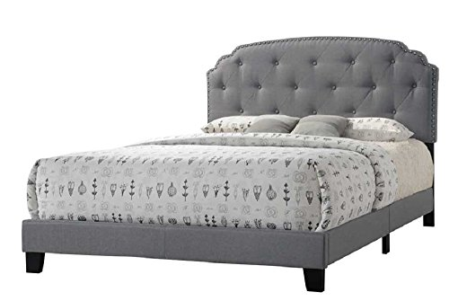 Major-Q Special Selection Luxurious Queen Size Bed for Bedroom (7026370Q) (Queen Tufted Sale Headboard)
