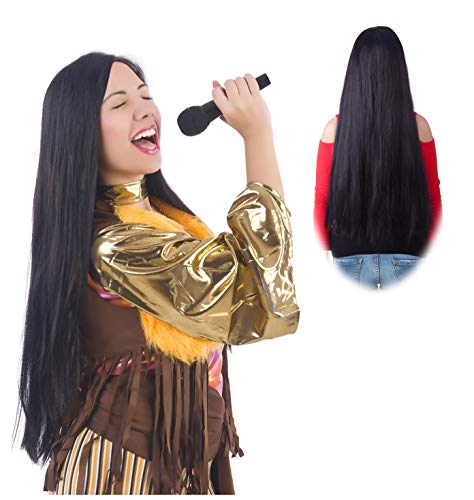 Cher Costume Wig Cher Wig Sonny and Cher Costume Wigs Sonny Bono Costume Wig -