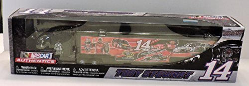 2016 Tony Stewart #14 Mobil 1 Bass Pro Champion Tribute Stewart Haas Motorsports 1/64 1:64 Scale Diecast Hauler Trailer Truck Tractor Semi Rig Transporter NASCAR ()