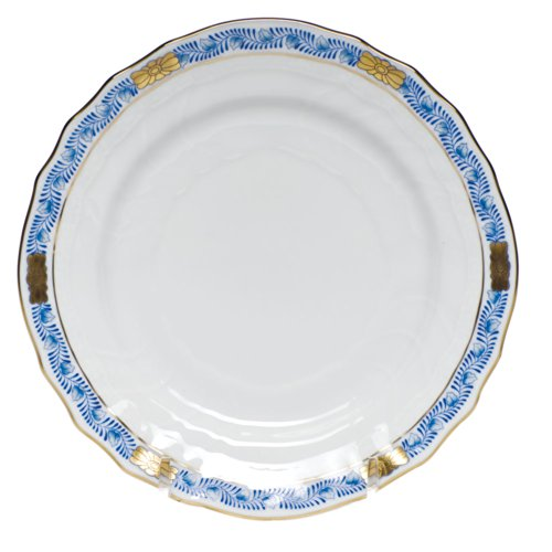 Herend Chinese Bouquet Garland Blue Bread and Butter
