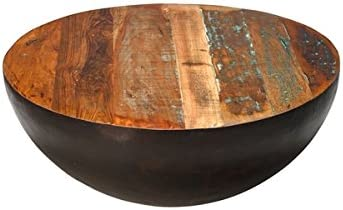 Design Tree Home Reese 36″ Reclaimed Mango Wood Round Coffee Table