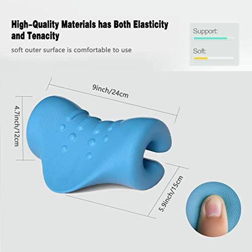 Neck and Shoulder Relaxer Cervical Neck Stretcher Portable Chiropractic Pillow Neck Traction Device Massage Pillow for Pain Relief Management and Cervical Spine