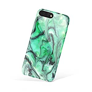 iPhone 8 Plus / iPhone 7 Plus case for girls, Akna Collection Flexible Silicon Cover for both iPhone 7 Plus & 8 Plus [Abstract Green](645-U.S)