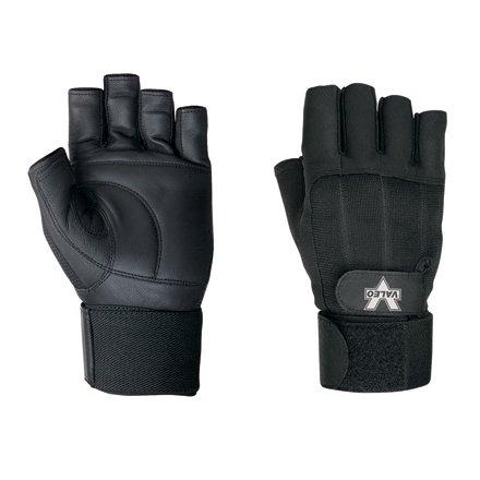 Aviditi GLV1017M Pro Material Handling Fingerless Gloves with Wrist Strap, Medium, Black (Case of 4) by Aviditi B00IMNHNL6