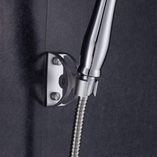 WOVELOT Cabezal de Ducha Tipo Lluvia de 8 Pulgadas Junta Giratoria de Agua de Ahorro de Alta Presion Pulverizador Cuadrado con Sostenedor Soporte Manguera de Ducha